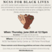 NCSS FOR BLACK LIVES