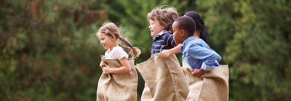 Children in a Sack Race