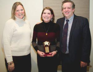 Samantha Sweet, Amanda Lobb, Partner in Excellence Award recipient, and Dr. Steve Broer.