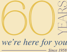 60 Year's We're Here for You
