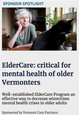ElderCare: critical for mental health of older Vermonters